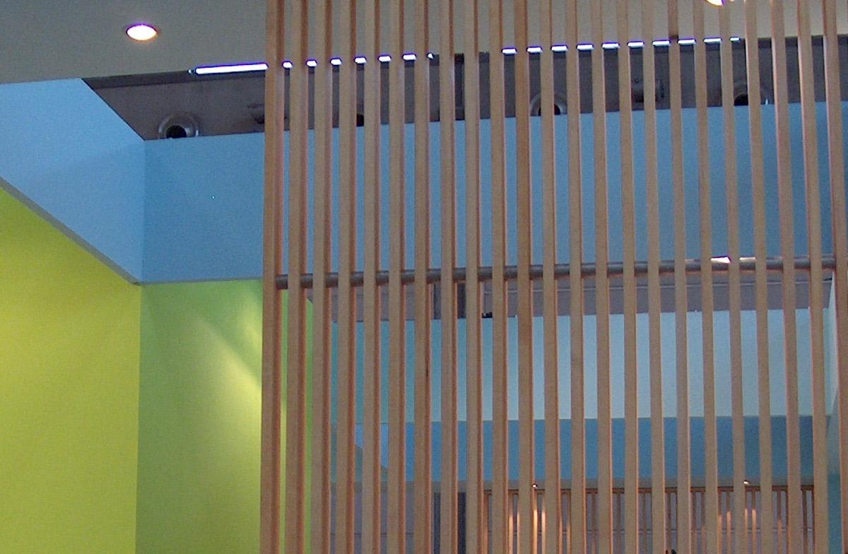 Stand Amici di Brugg 2005, Rimini. Spazio espositivo dei prodotti Planmeca