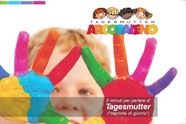 Pieghevole informativo del'Associazione Tagesmutter Arcobaleno di Genova