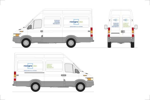 Progetto per l'immagine aziendale - coordinata per l'azienda Rovegno Casa - Progettazione d'Interni