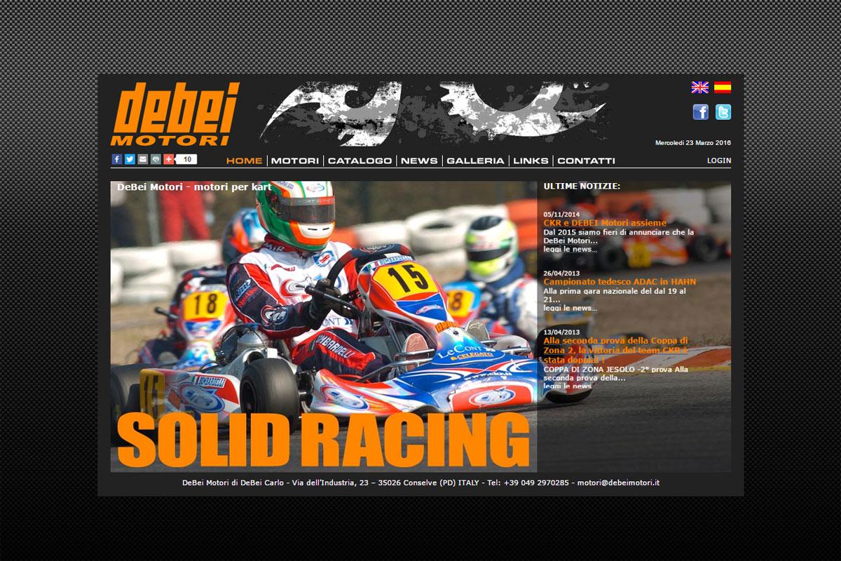 Homepage del sito web Debei Motori di Conselve (PD)
