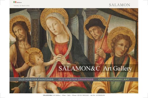 Homepage del sito web della galleria Salamon di Milano