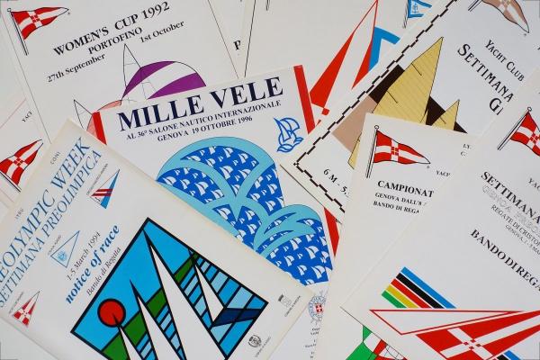 Immagini grafiche delle copertine dei Bandi di Regata dello Yacht Club Italiano