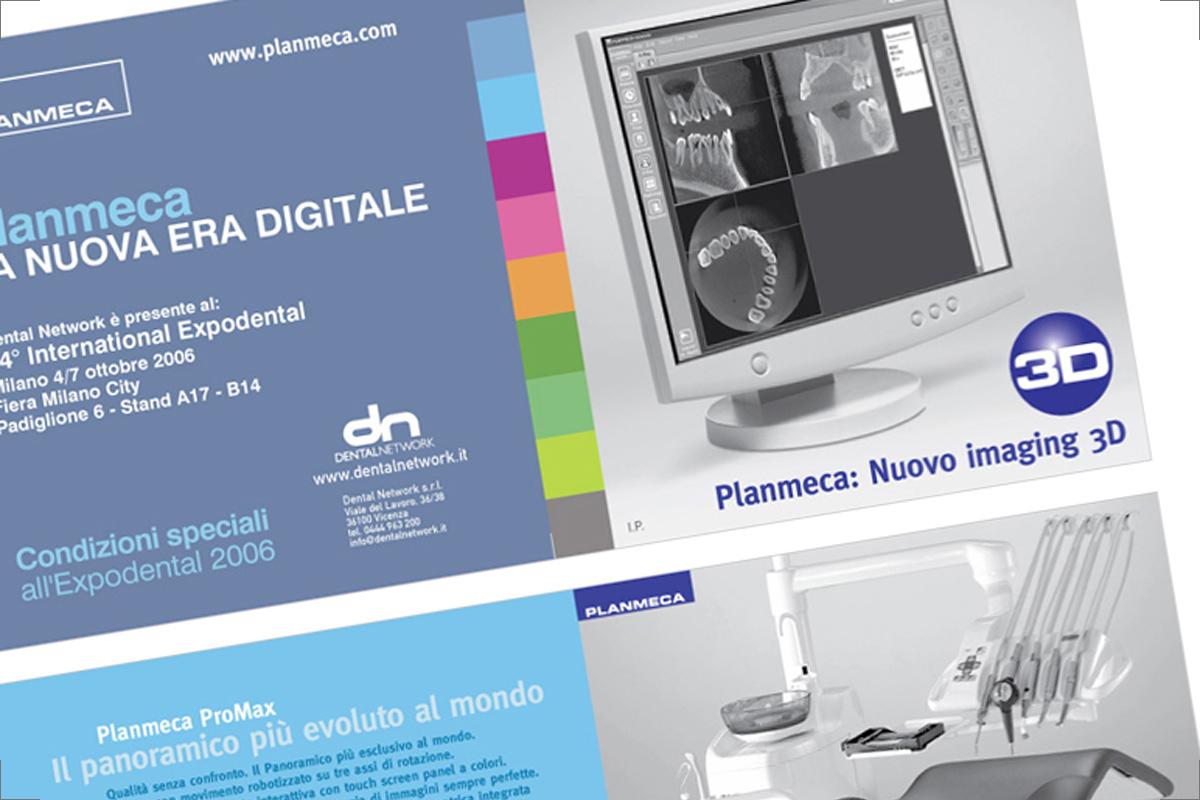 Pieghevole Dental Network - sestino 15x15 cm