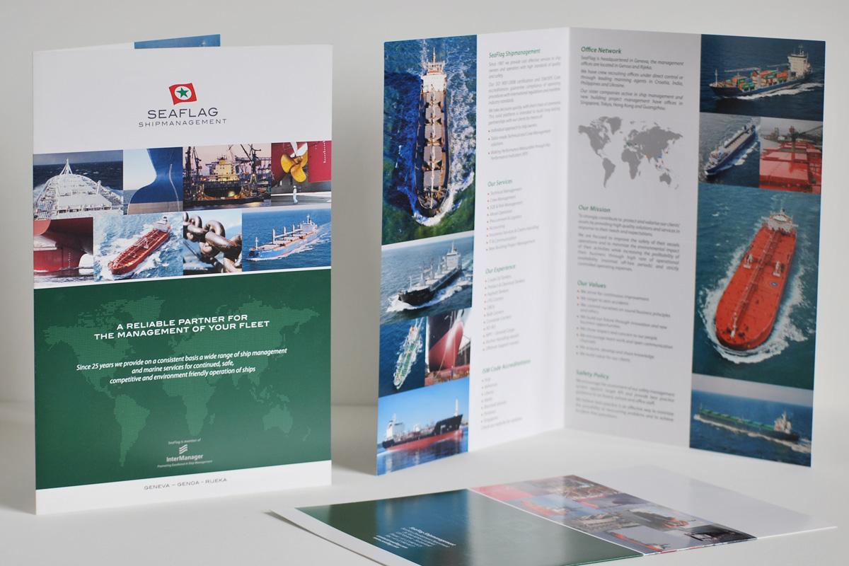 Pieghevole SeaFlag Shipmanagement, quartino, formato A4
