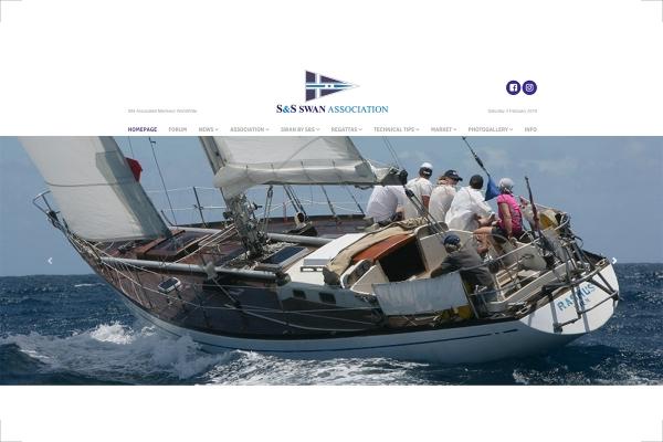 Homepage del sito web Classic Swan