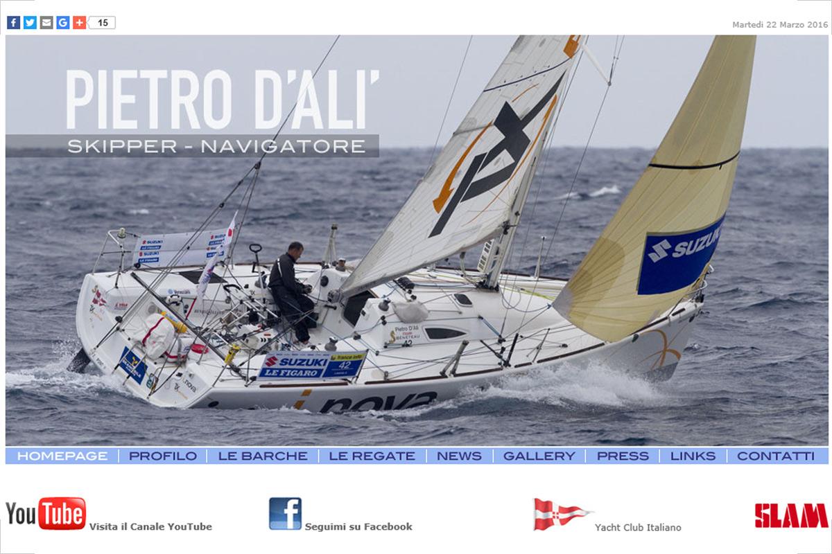 Sito web di Pietro D'Alì Skipper e navigatore