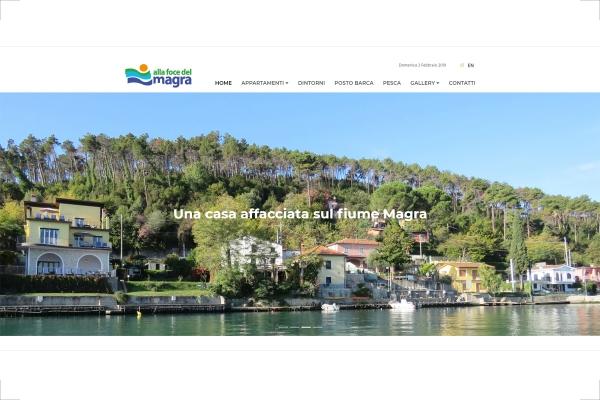Homepage del sito web Alla Foce del Magra