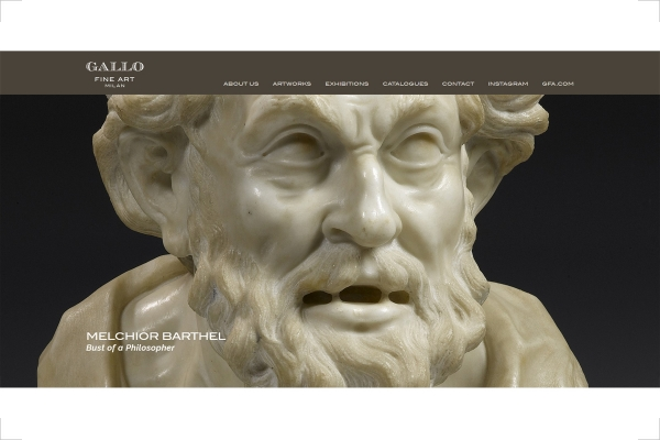 Homepage del sito web Gallo Fine Art