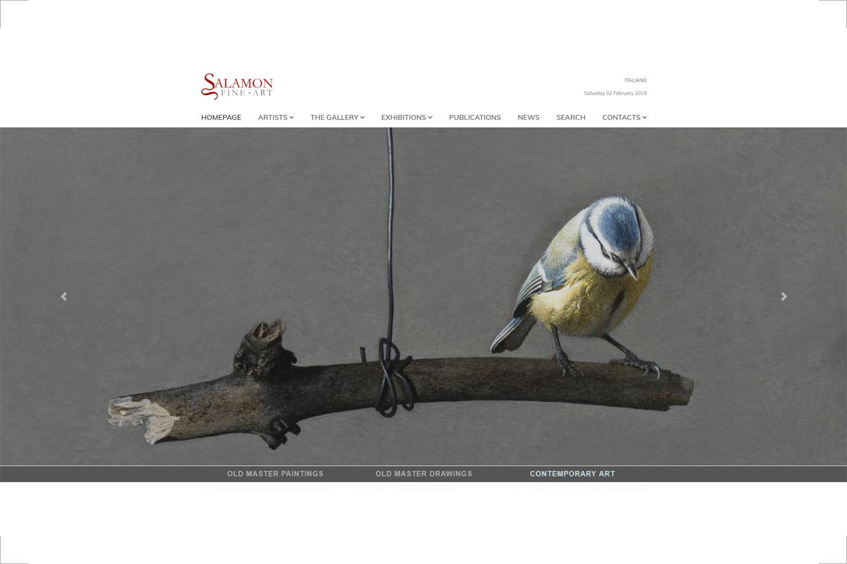 Homepage del sito web Salamon Fine Art